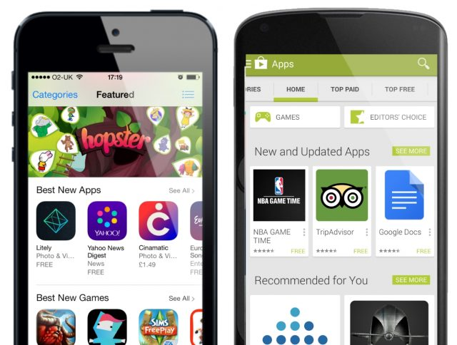 Apple Store vs. Google Play: Can there be an App Store Champ?